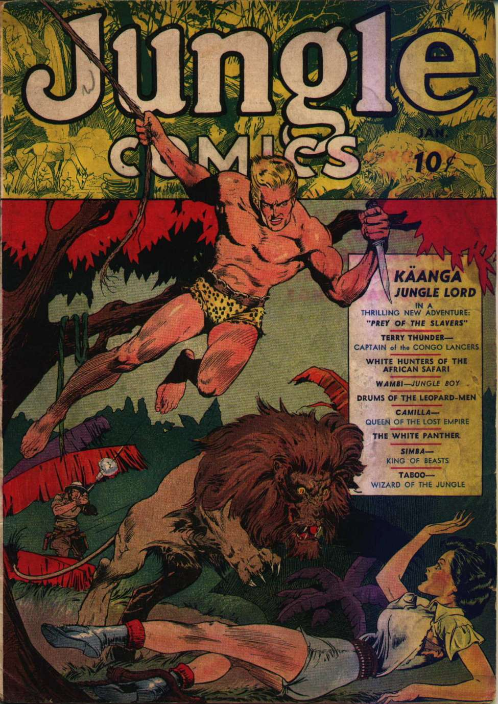 Comic Book Cover For Jungle Comics #1