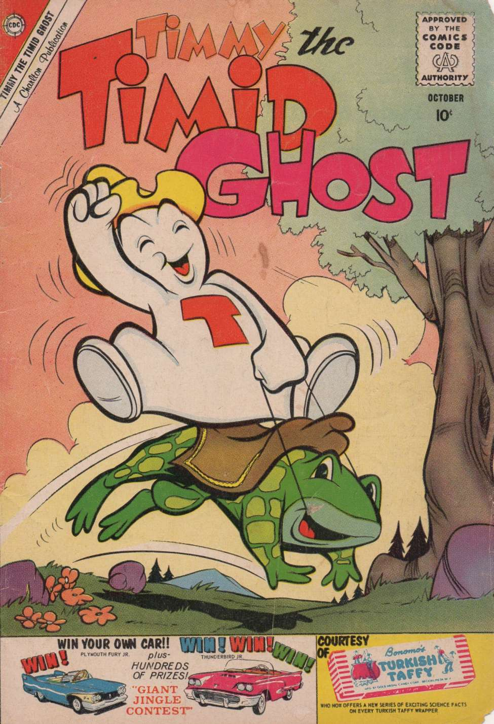 Comic Book Cover For Timmy the Timid Ghost #23
