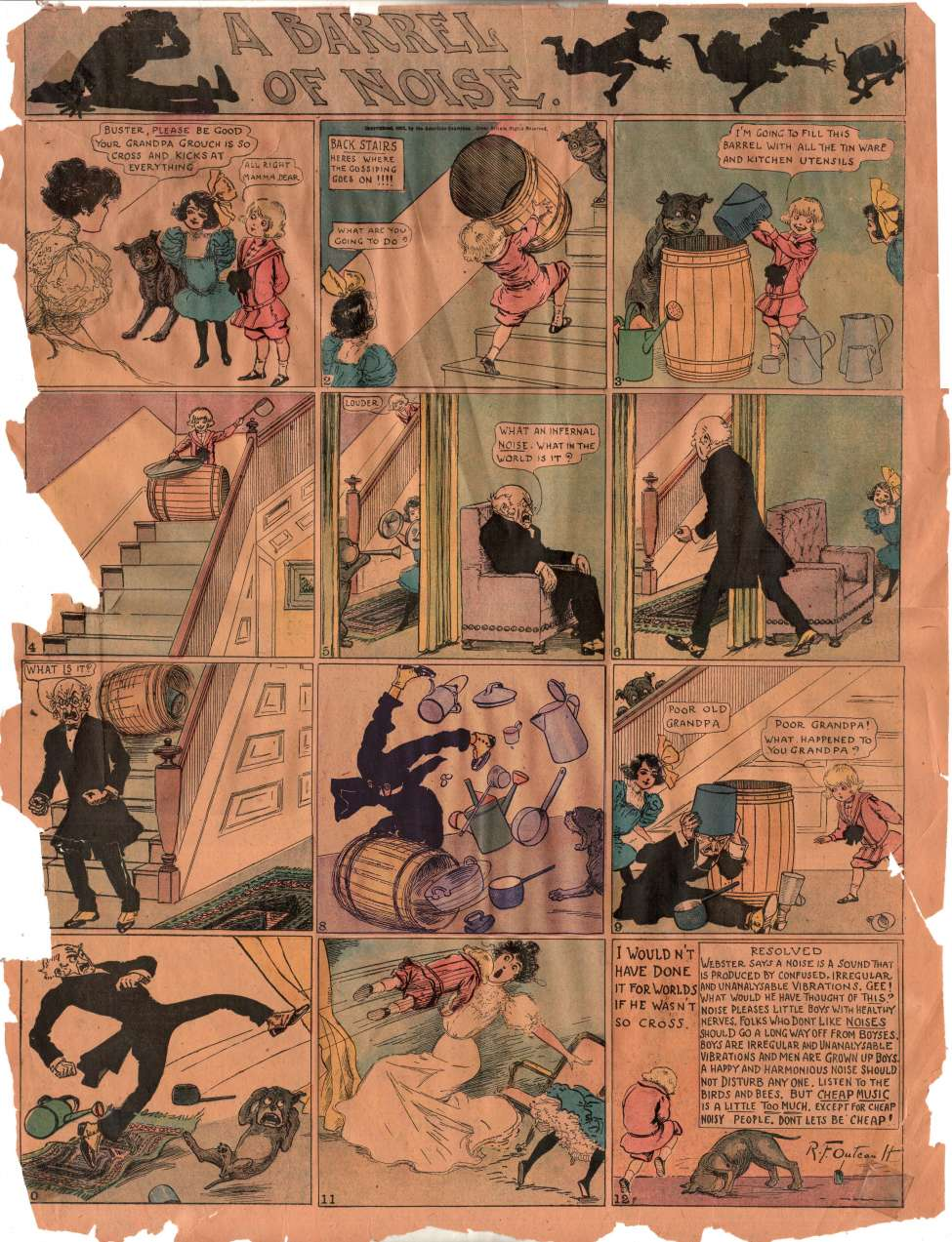 Comic Book Cover For Buster Brown Sunday Strip 1902