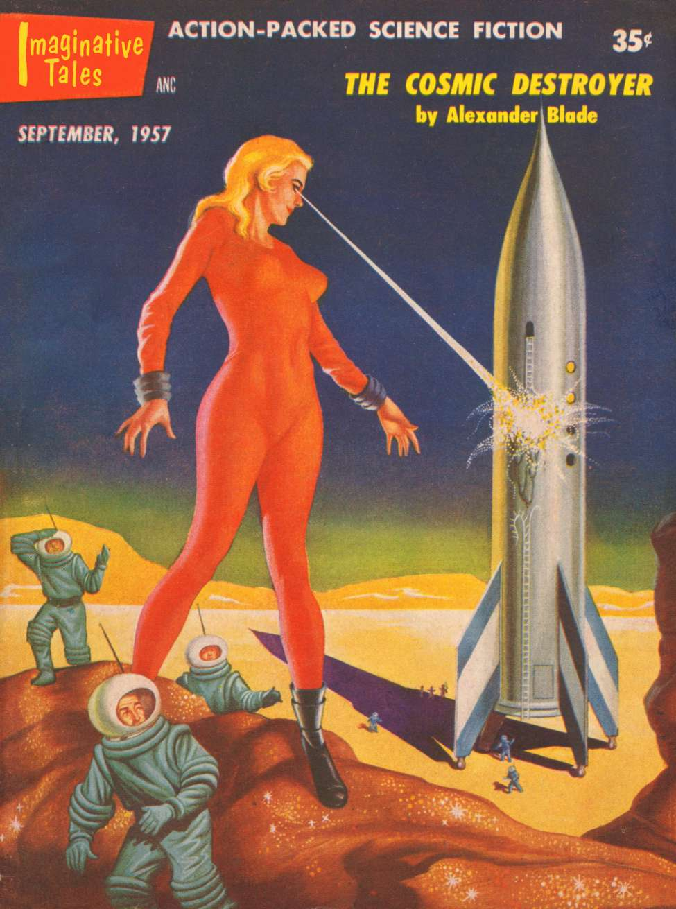 Comic Book Cover For Imaginative Tales v04 05 - The Cosmic Destroyer - Alexander Blade