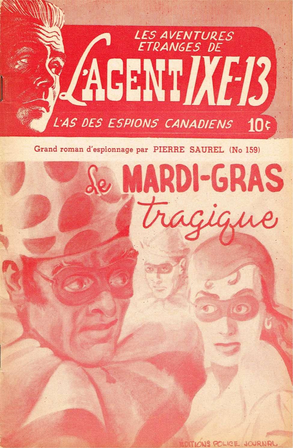 Comic Book Cover For L'Agent IXE-13 v2 159 - Le mardi-gras tragique