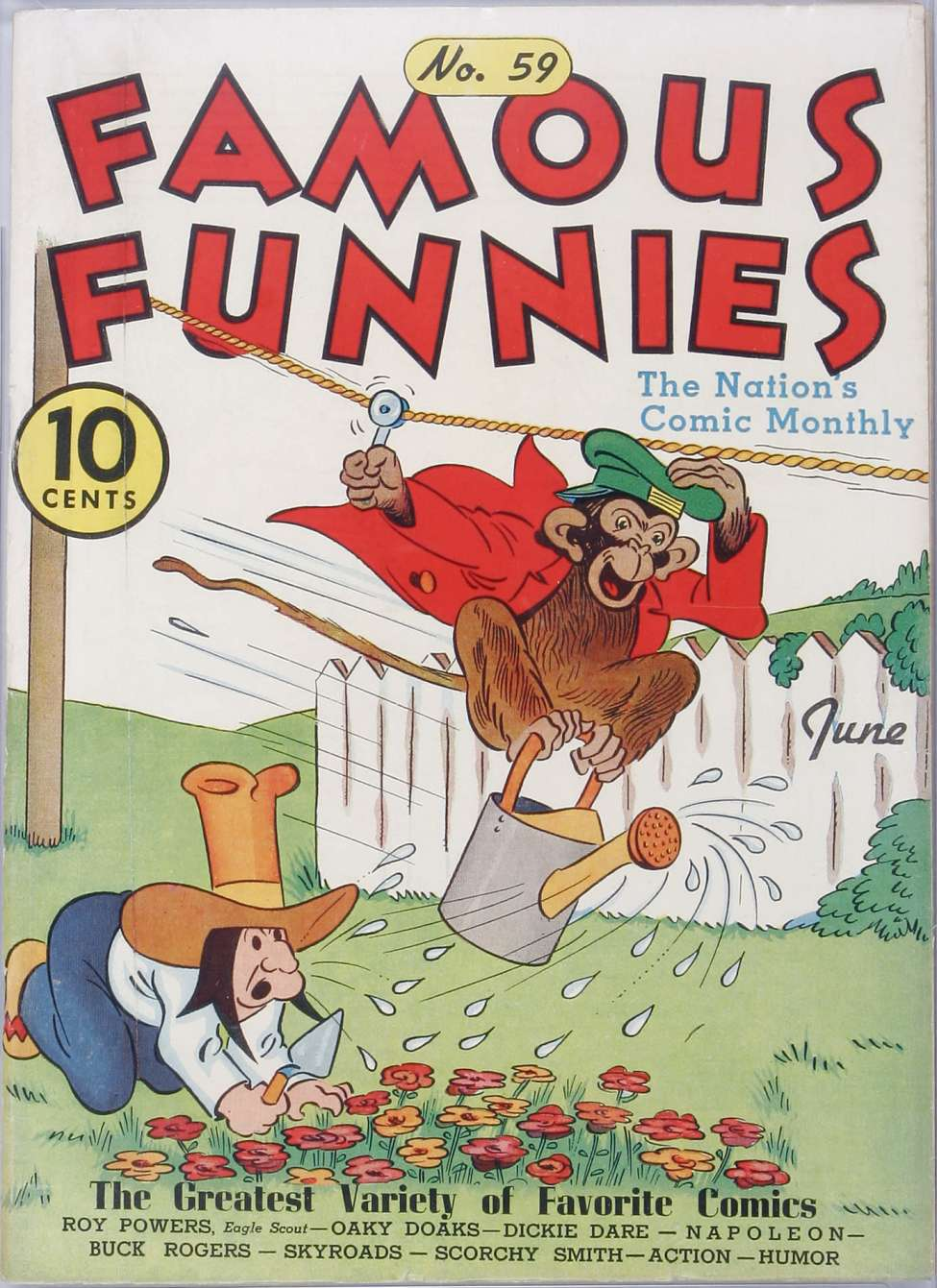 Comic Book Cover For Famous Funnies #59