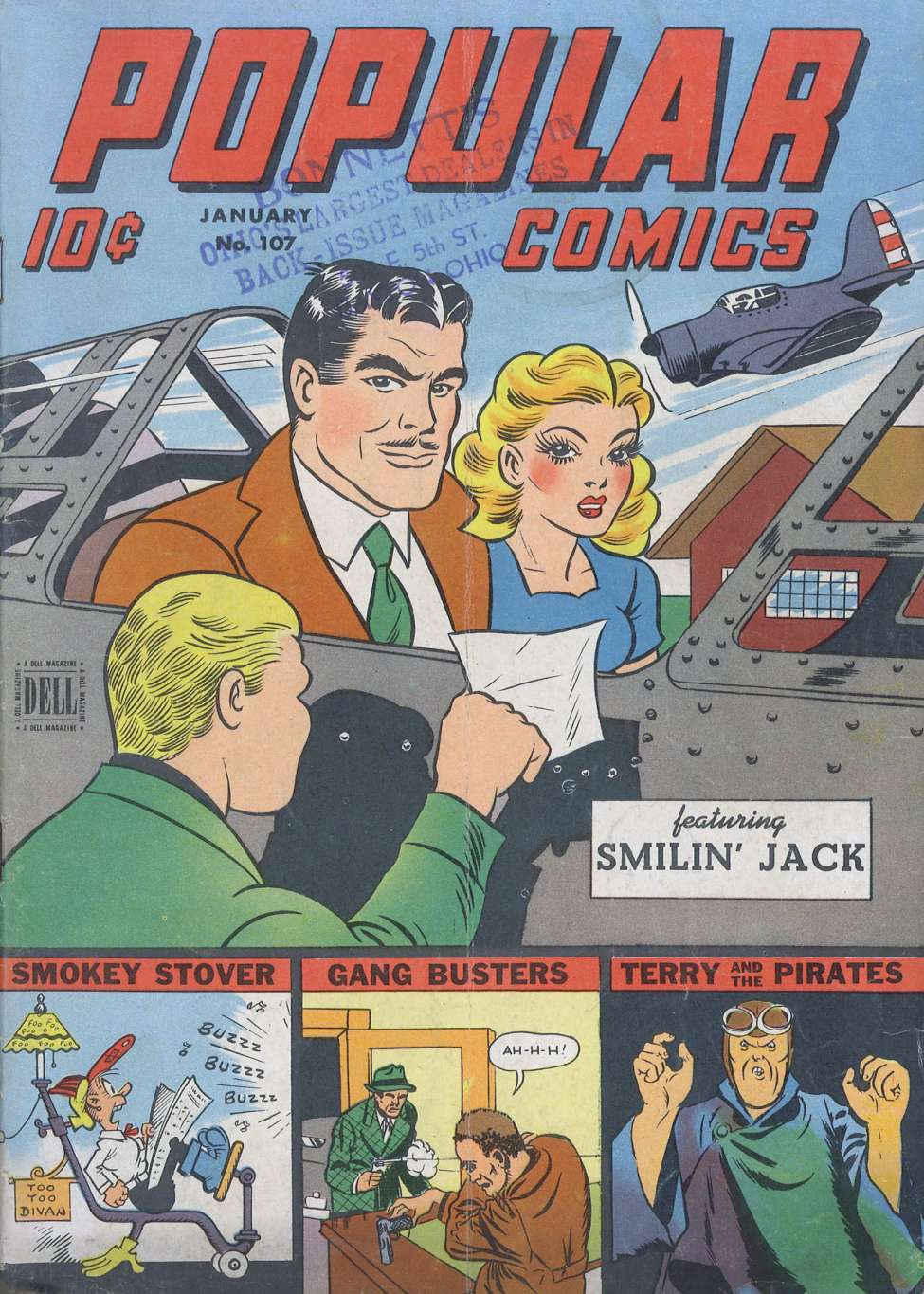 Comic Book Cover For Popular Comics #107