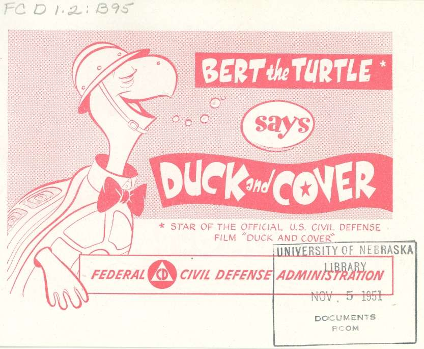 Comic Book Cover For Bert The Turtle Says Duck And Cover