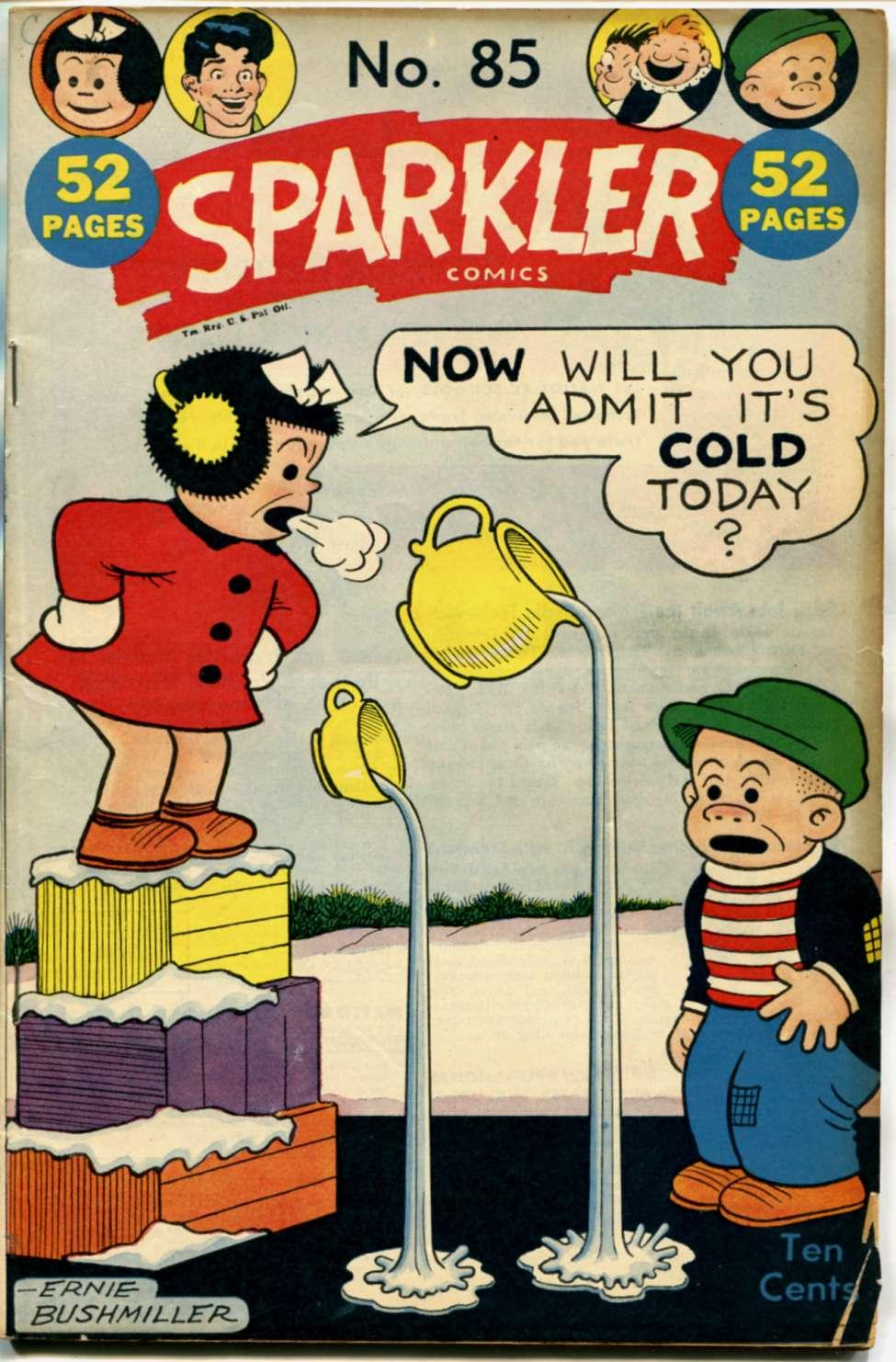 Comic Book Cover For Sparkler Comics #85