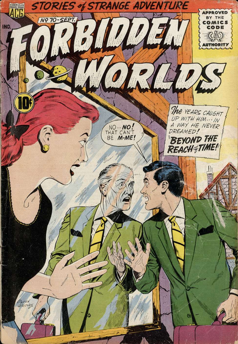 Comic Book Cover For Forbidden Worlds #70