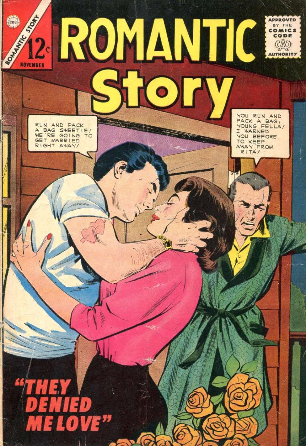 Comic Book Cover For Romantic Story #74