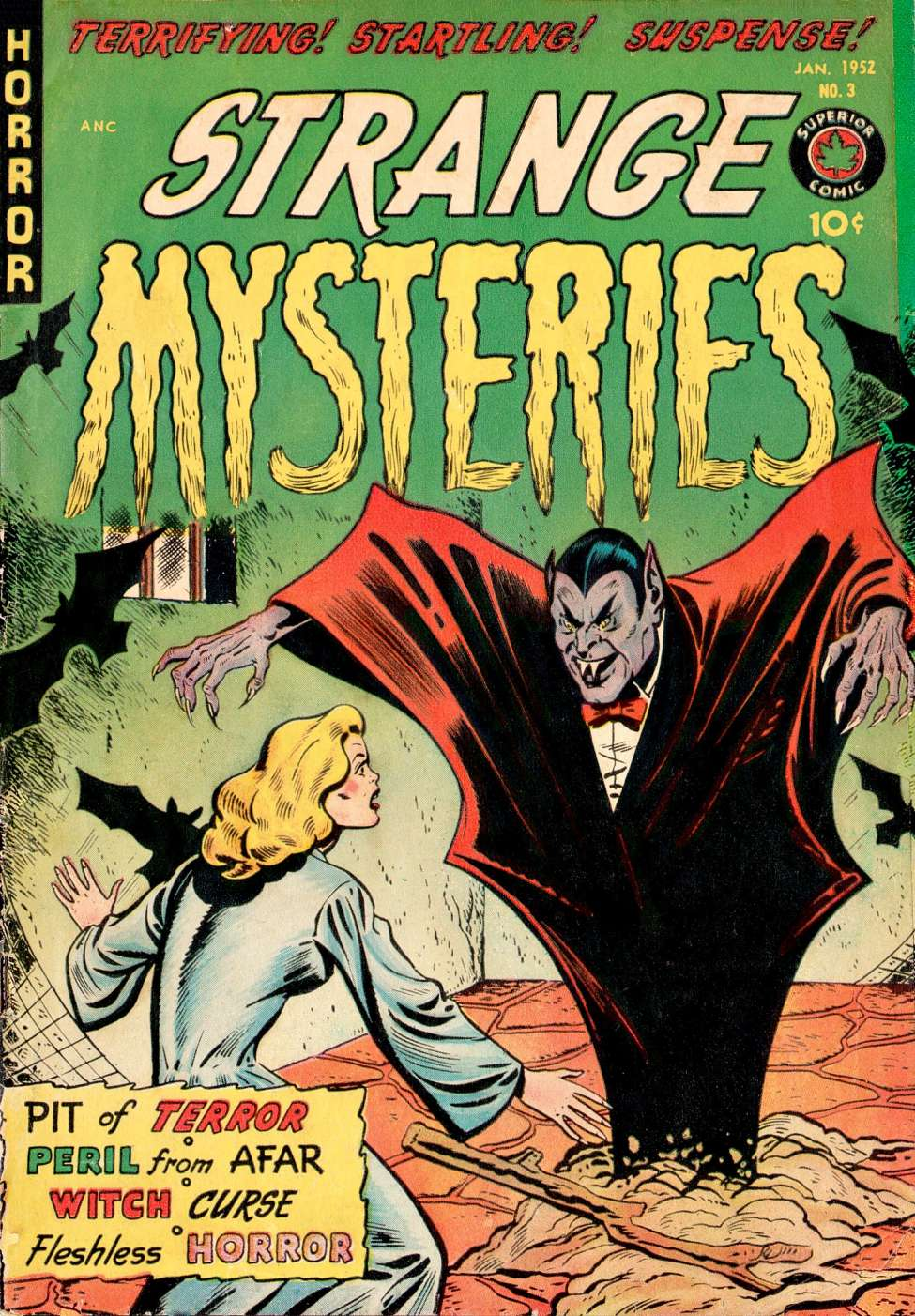 Comic Book Cover For Strange Mysteries #3
