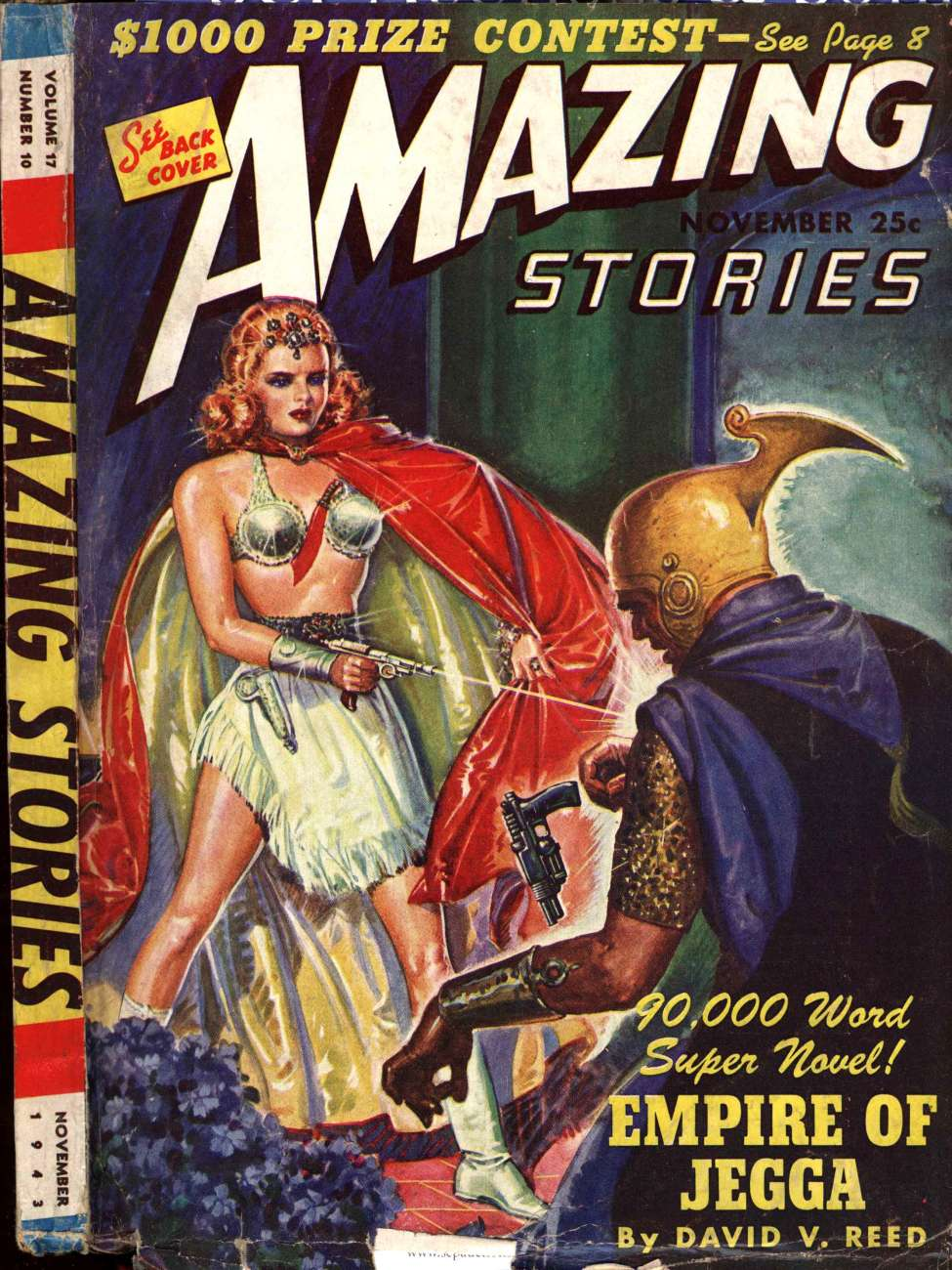 Comic Book Cover For Amazing Stories v17 10 - Empire of Jegga - David V. Reed