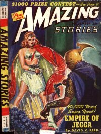 Large Thumbnail For Amazing Stories v17 10 - Empire of Jegga - David V. Reed