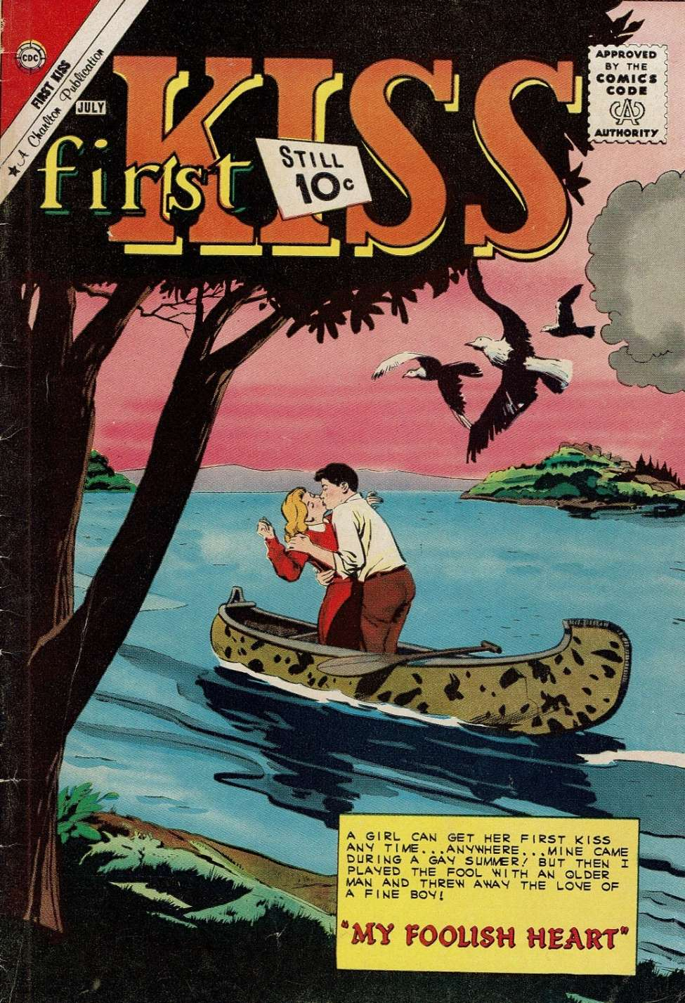 Comic Book Cover For First Kiss #21