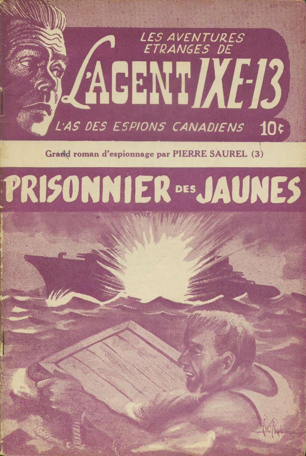 Comic Book Cover For L'Agent IXE-13 v2 003 – Prisonnier des jaunes