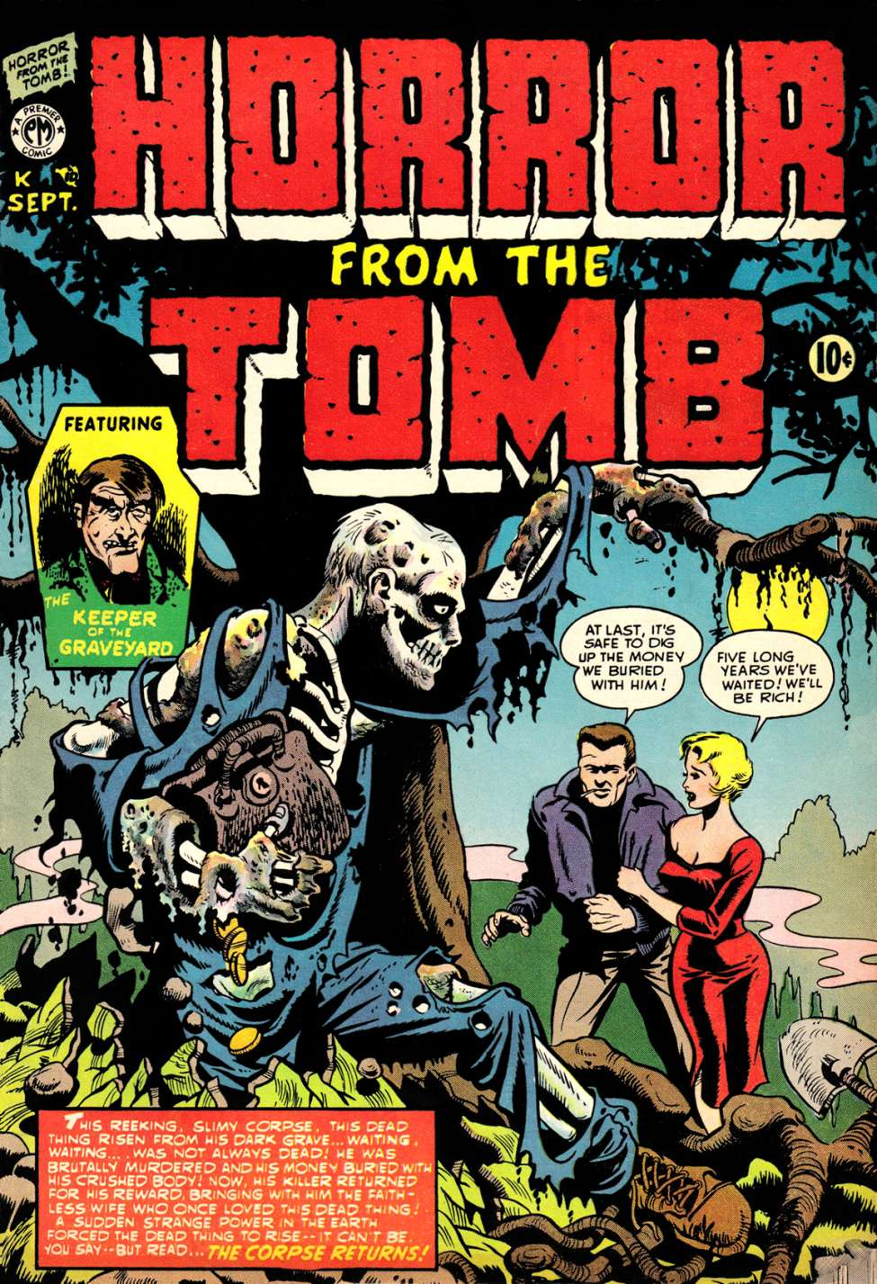 Comic Book Cover For Horror from the Tomb #1