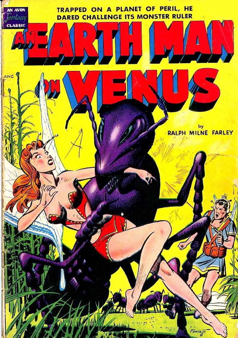 Comic Book Cover For Avon Fantasy - An Earth Man On Venus (nn)