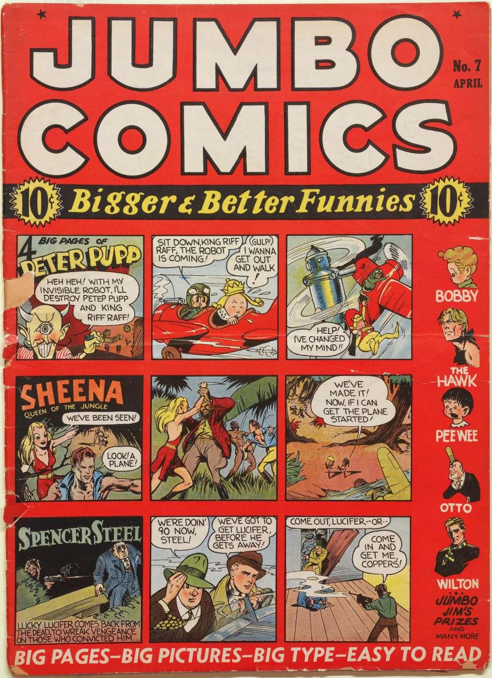 Comic Book Cover For Jumbo Comics #7