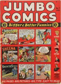 Large Thumbnail For Jumbo Comics #7