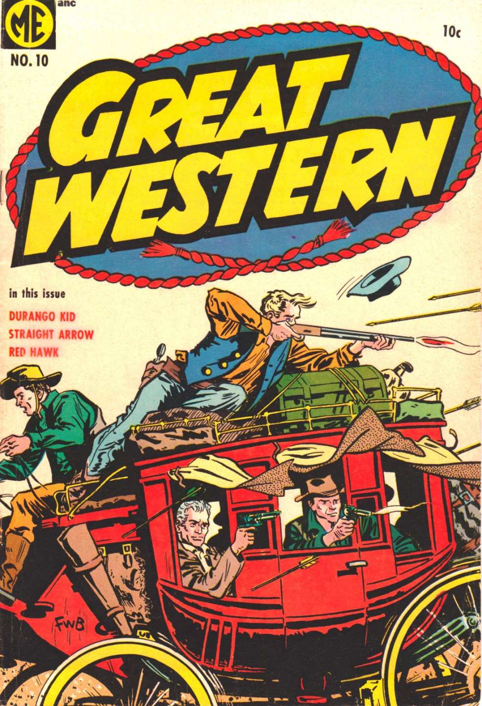 Comic Book Cover For Great Western #10