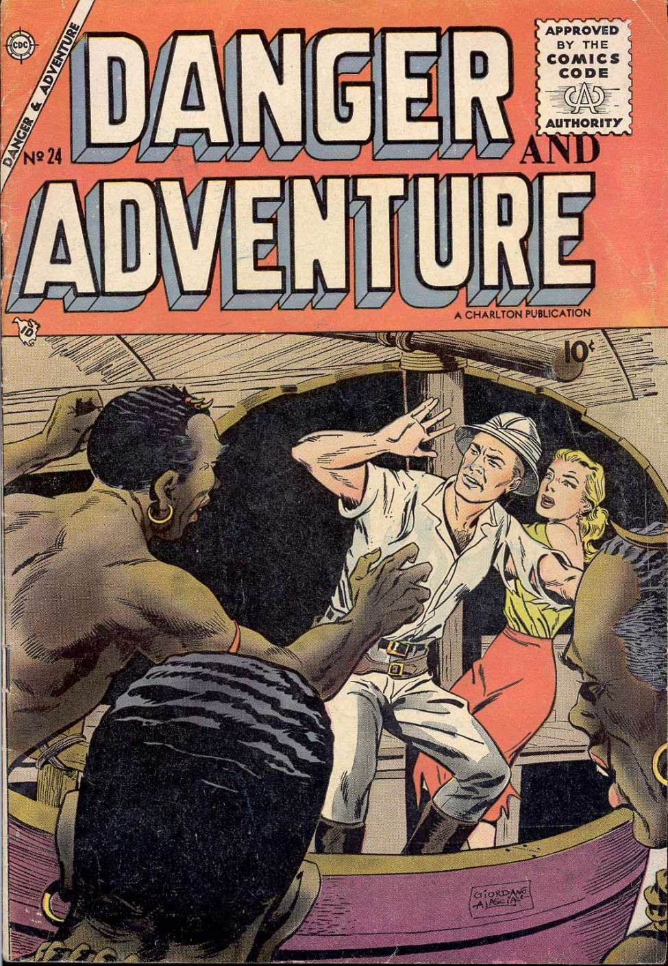 Comic Book Cover For Danger and Adventure #24