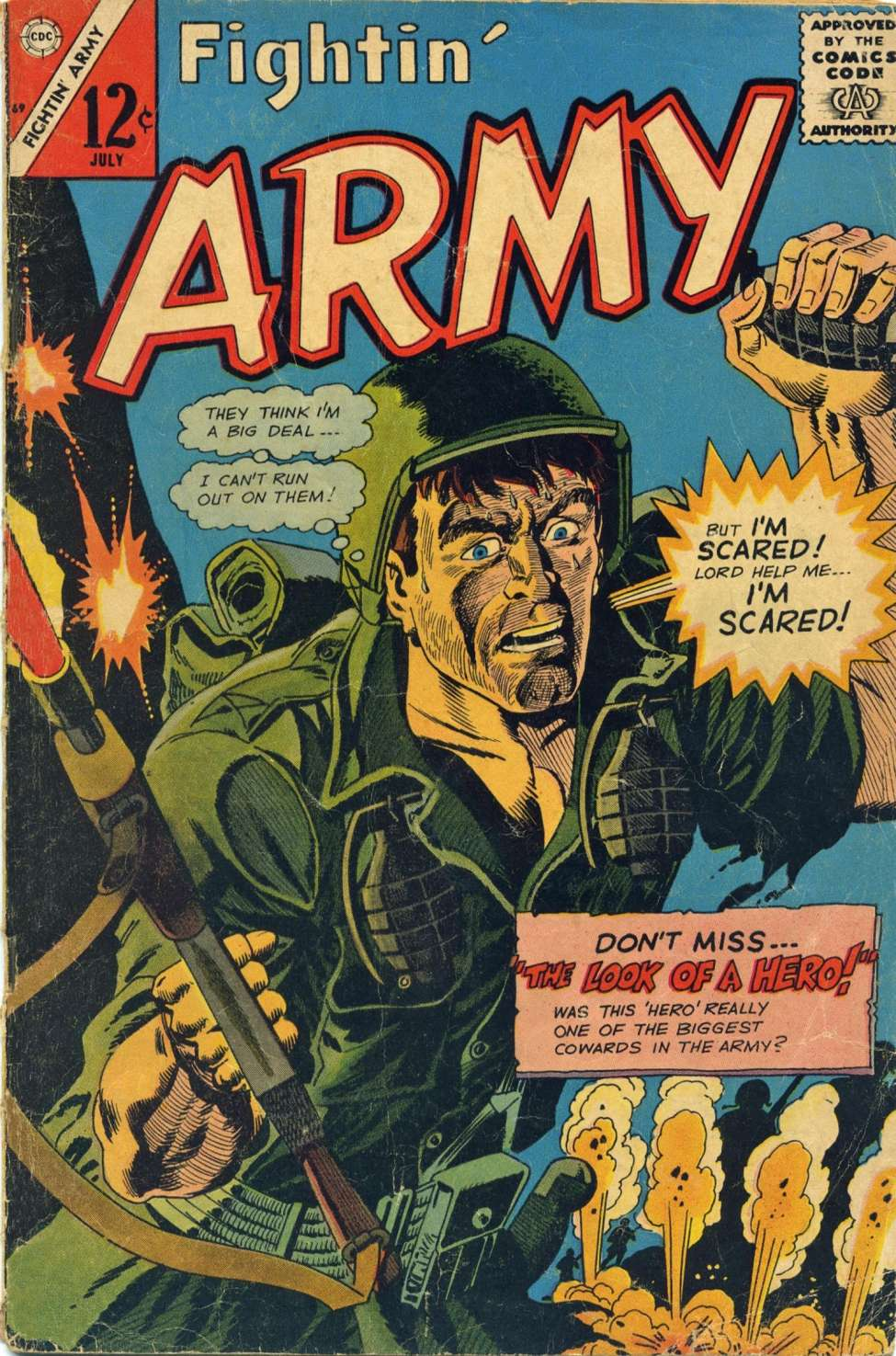 Comic Book Cover For Fightin' Army #69