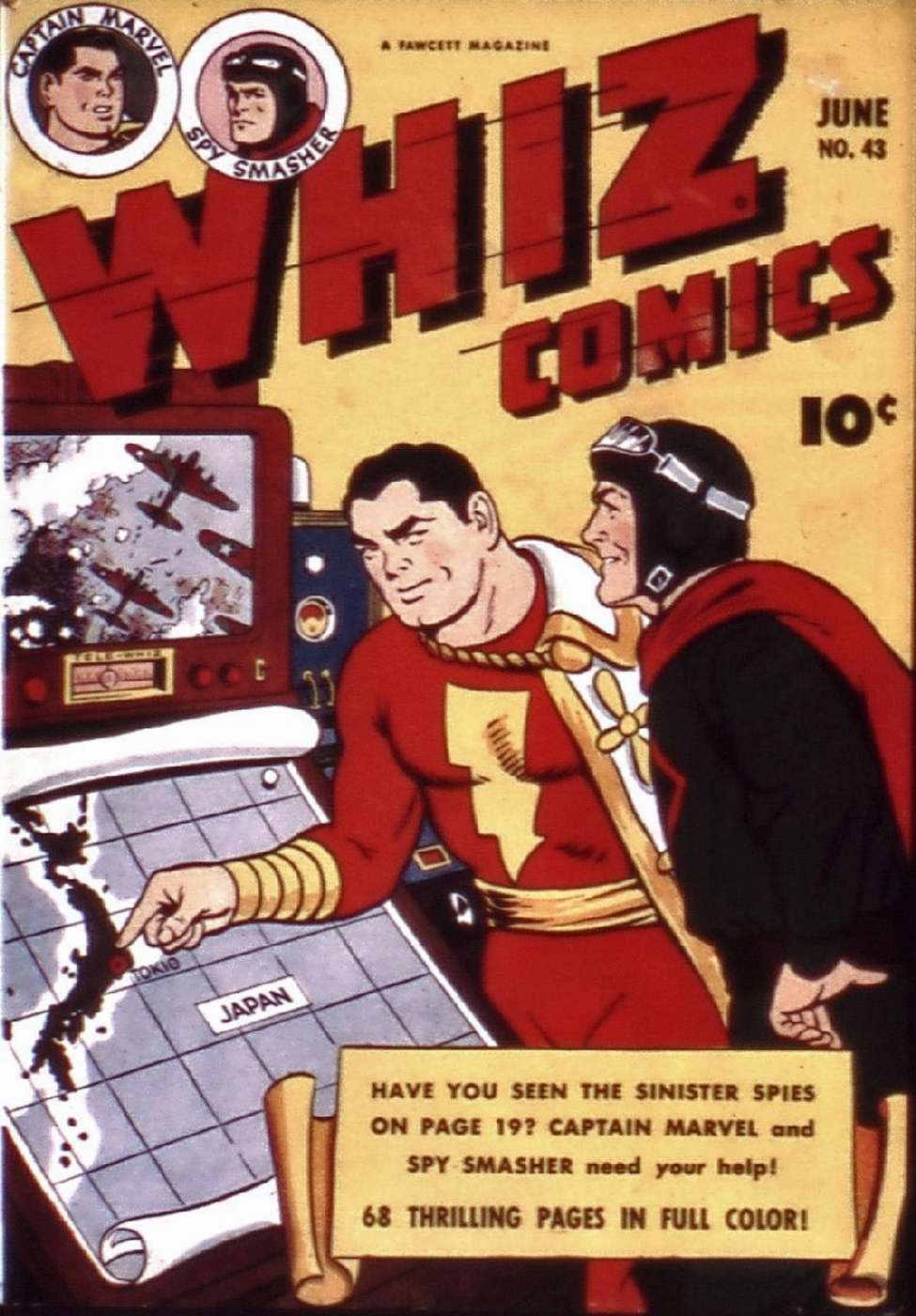 Comic Book Cover For Capt. Marvel Whiz Archives Vol 10