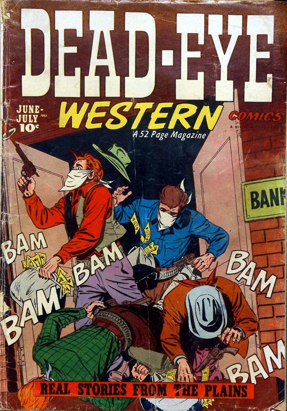 Comic Book Cover For Dead-Eye Western Comics v2 #4