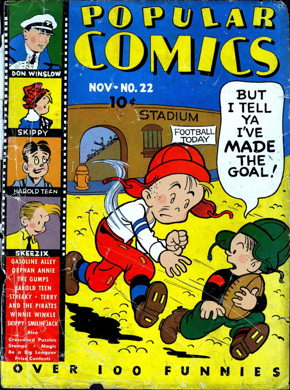 Comic Book Cover For Popular Comics #22