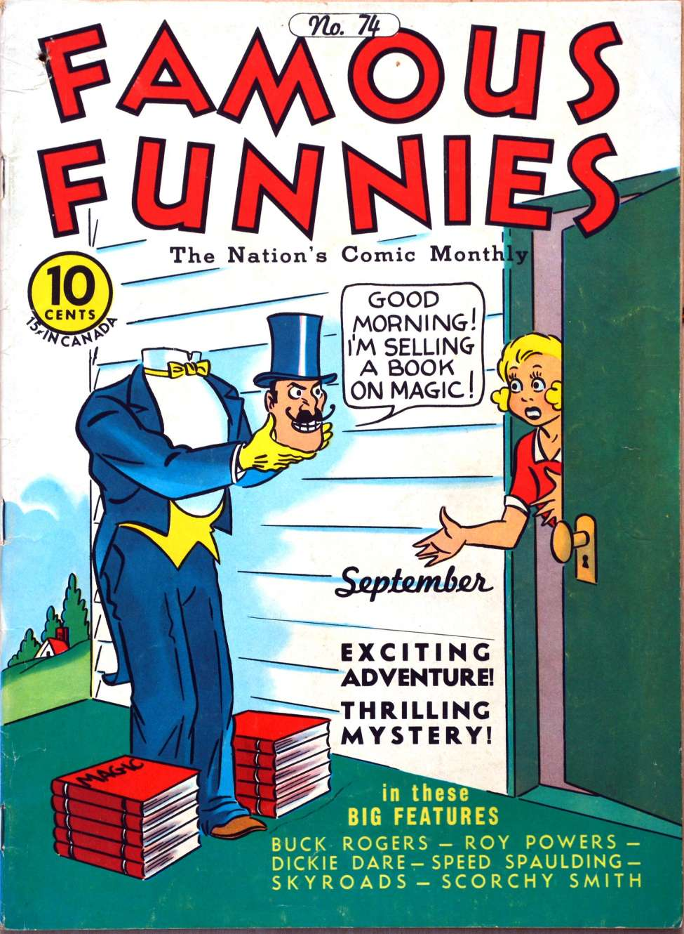 Comic Book Cover For Famous Funnies #74