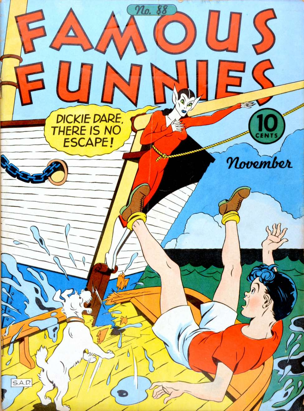 Comic Book Cover For Famous Funnies #88