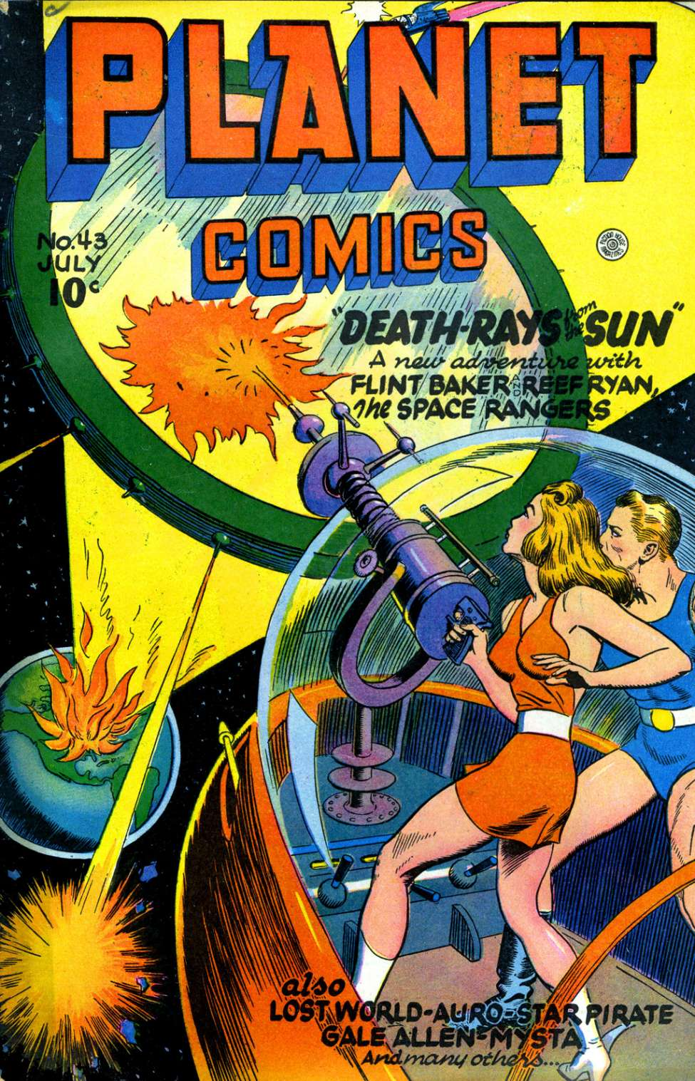 Comic Book Cover For Planet Comics #43