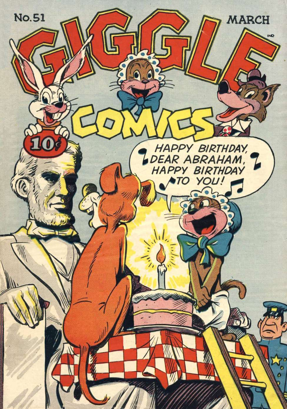 Comic Book Cover For Giggle Comics #51