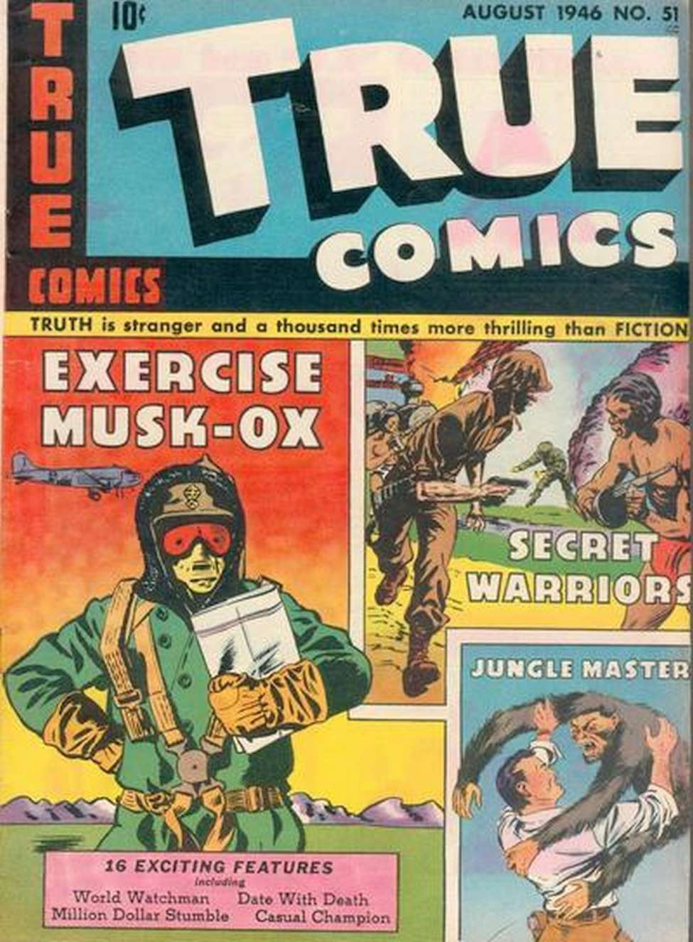 Comic Book Cover For True Comics #51