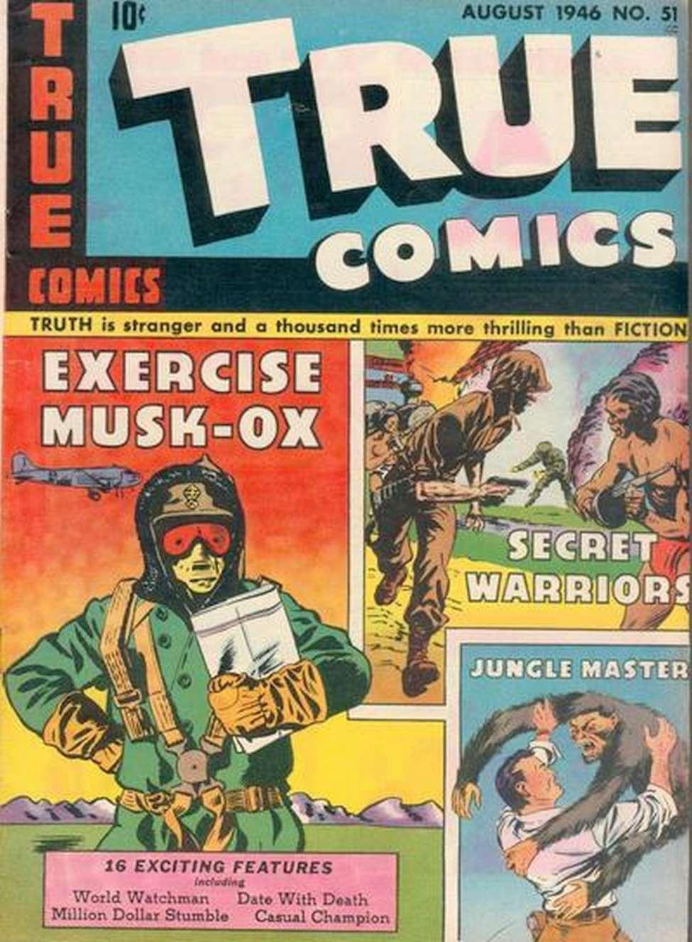 Comic Book Cover For True Comics #51