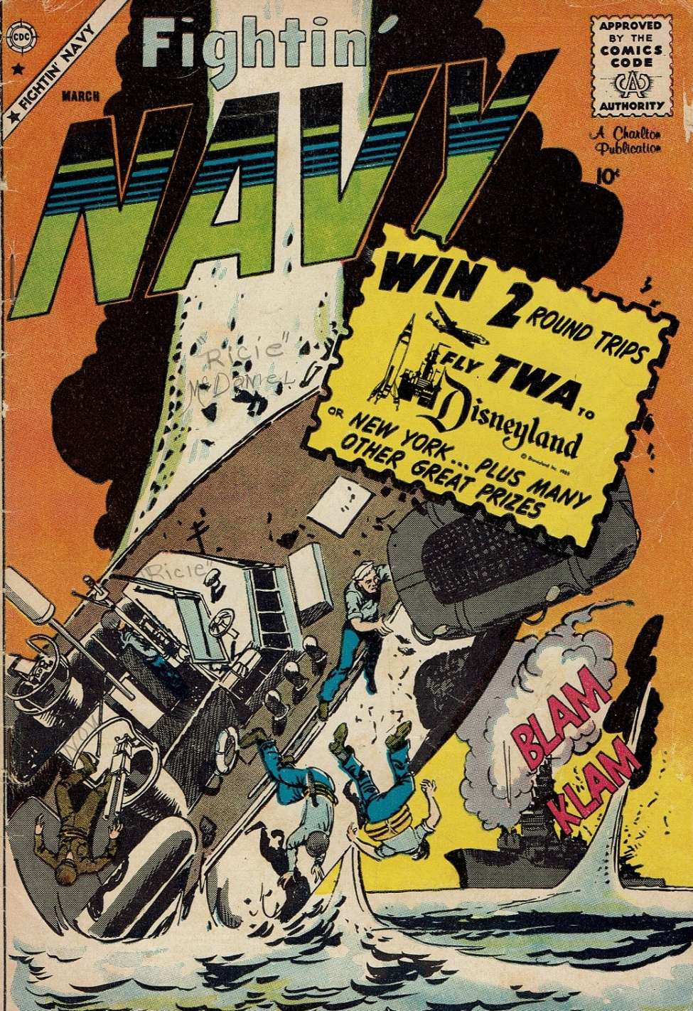 Comic Book Cover For Fightin' Navy #91