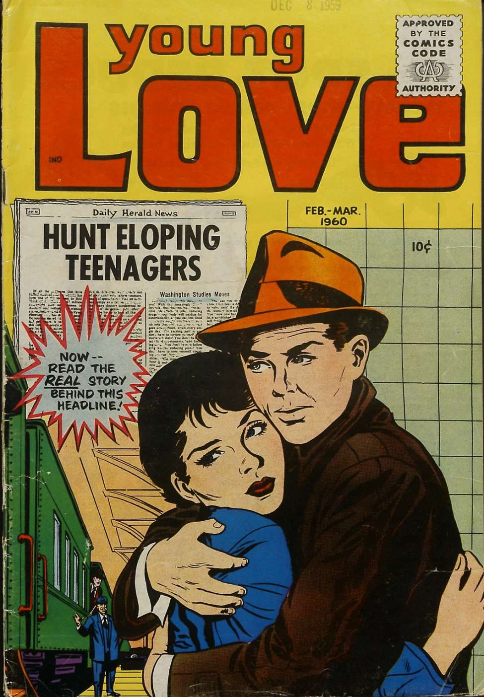 Comic Book Cover For Young Love v3 5 [18]