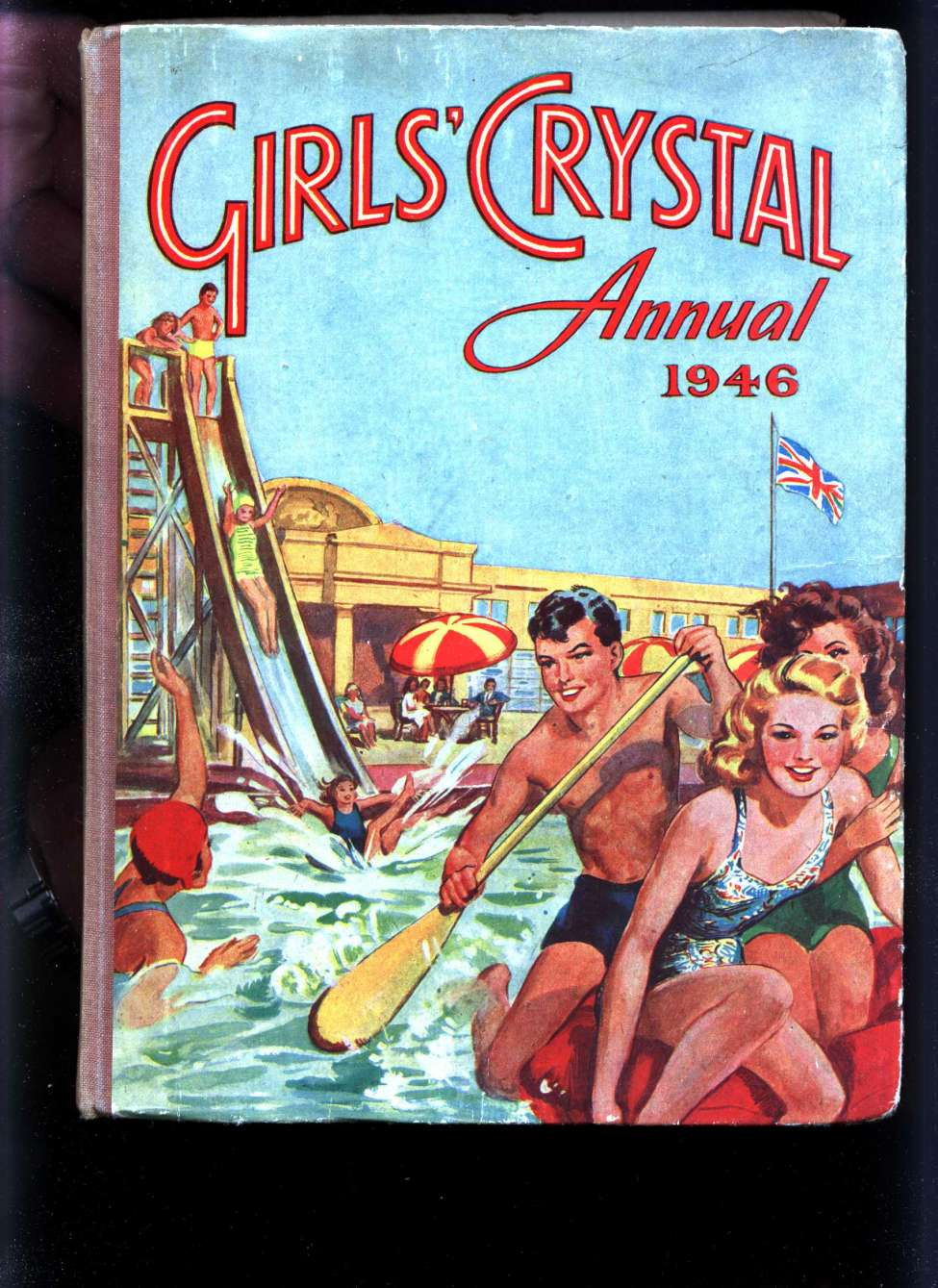 Comic Book Cover For Girls' Crystal Annual 1946
