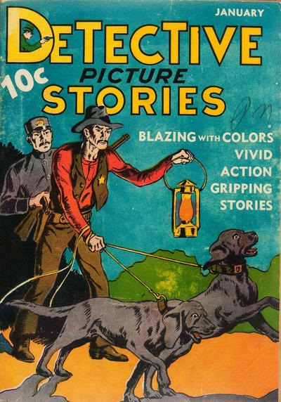 Comic Book Cover For Detective Picture Stories #2