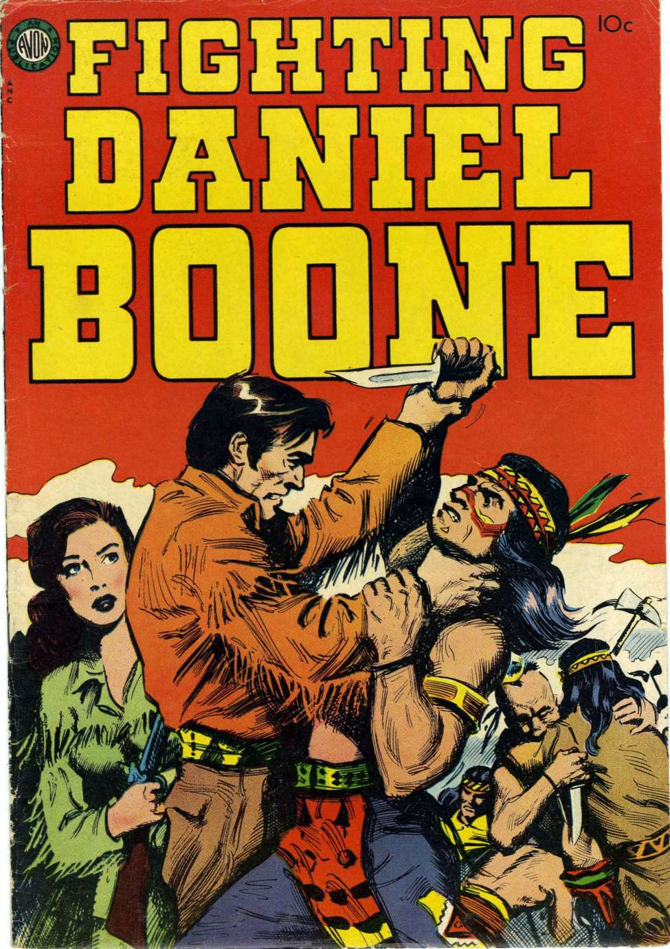 Comic Book Cover For Fighting Daniel Boone nn