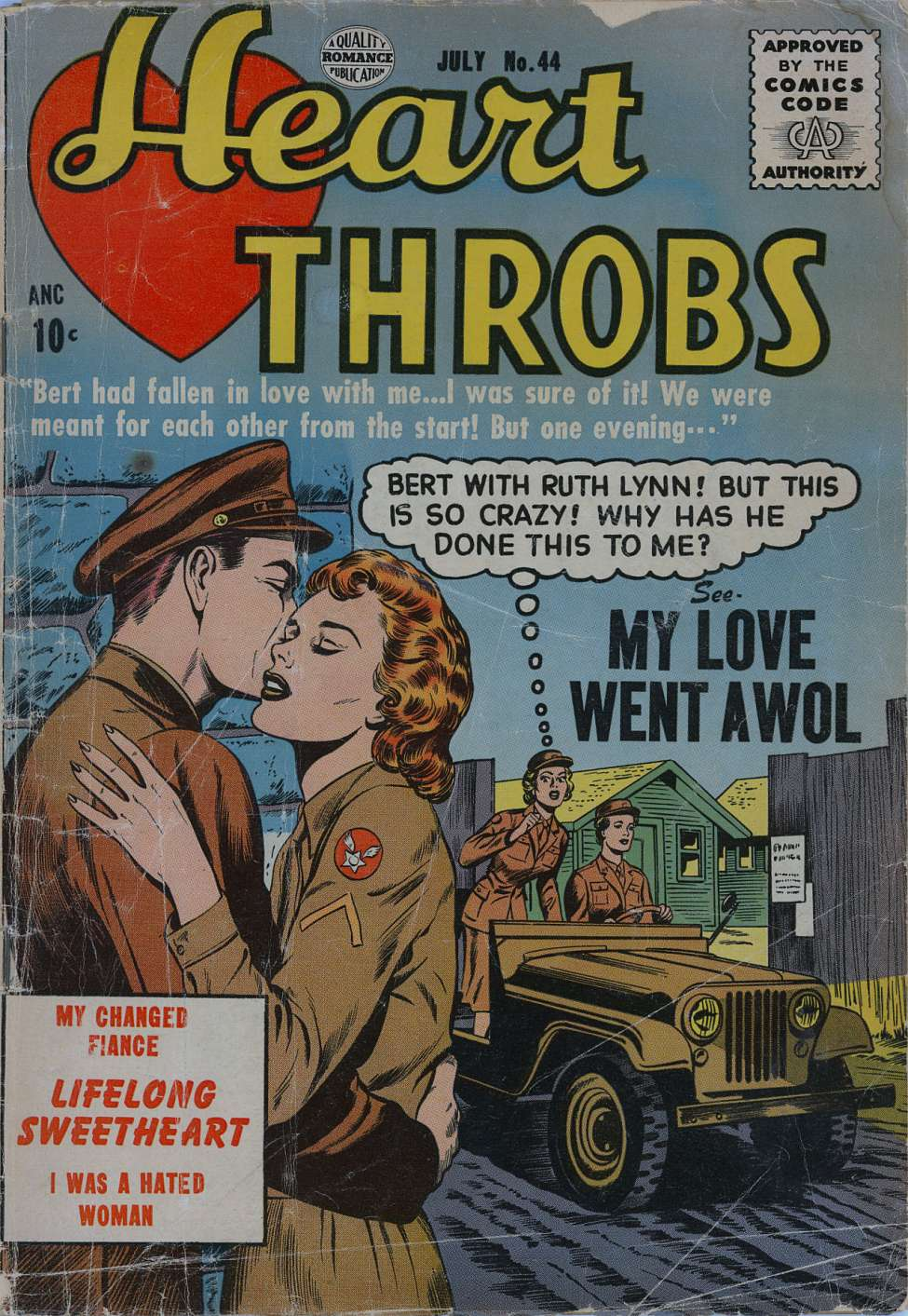 Comic Book Cover For Heart Throbs #44