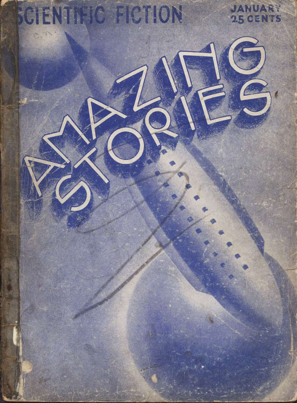 Comic Book Cover For Amazing Stories v07 10 - The Treasure of the Golden God - A. Hyatt Verrill