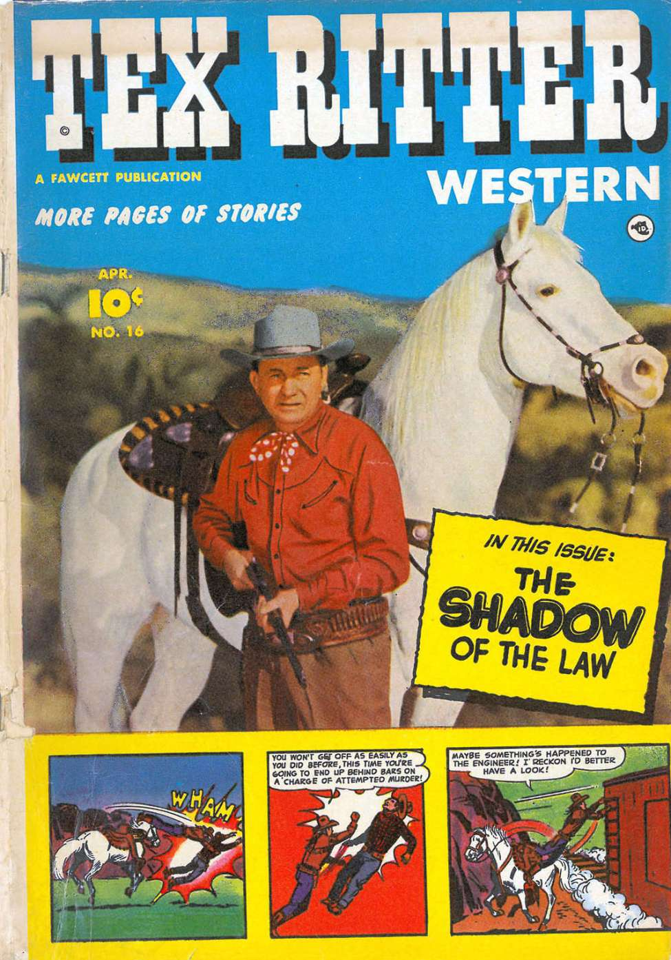 Comic Book Cover For Tex Ritter Western #16