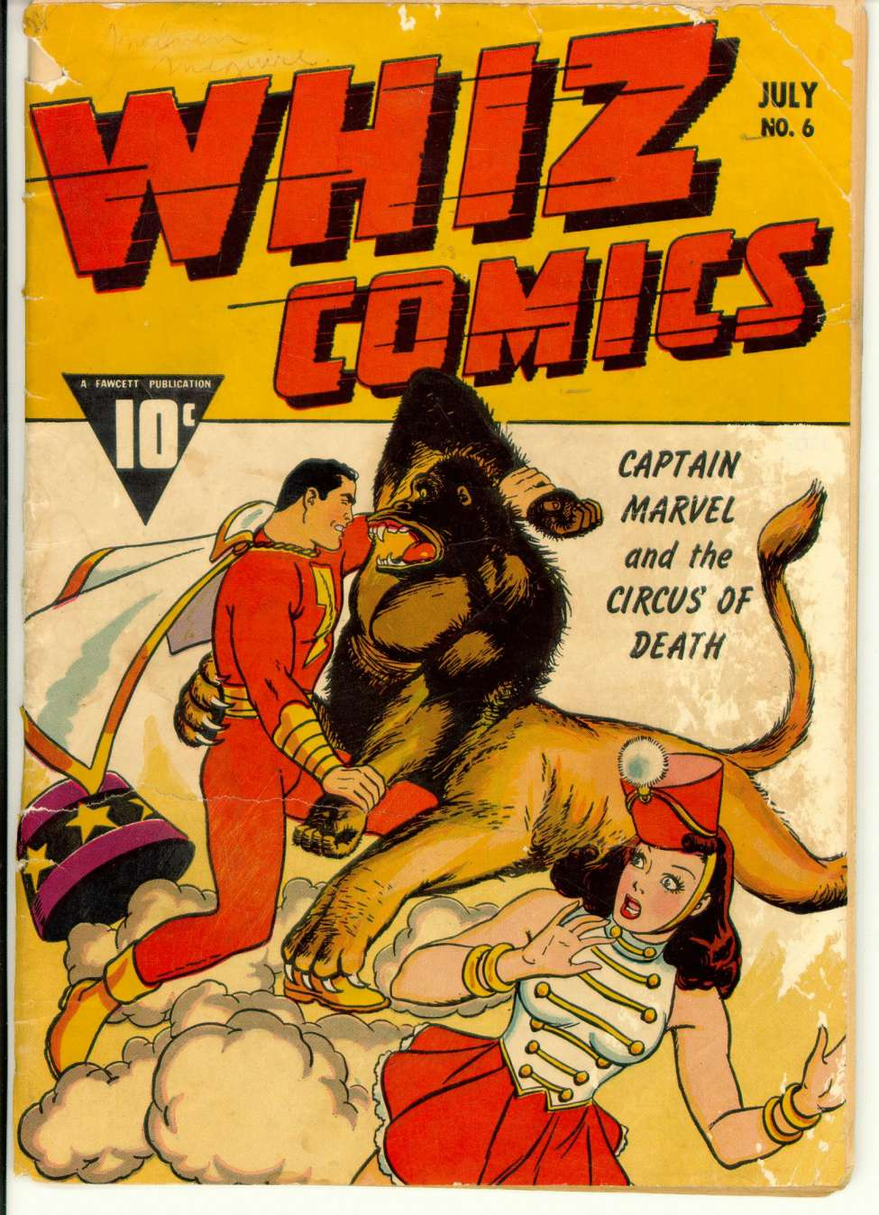 Comic Book Cover For Whiz Comics #6