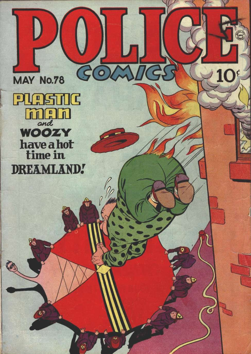 Comic Book Cover For Police Comics #78