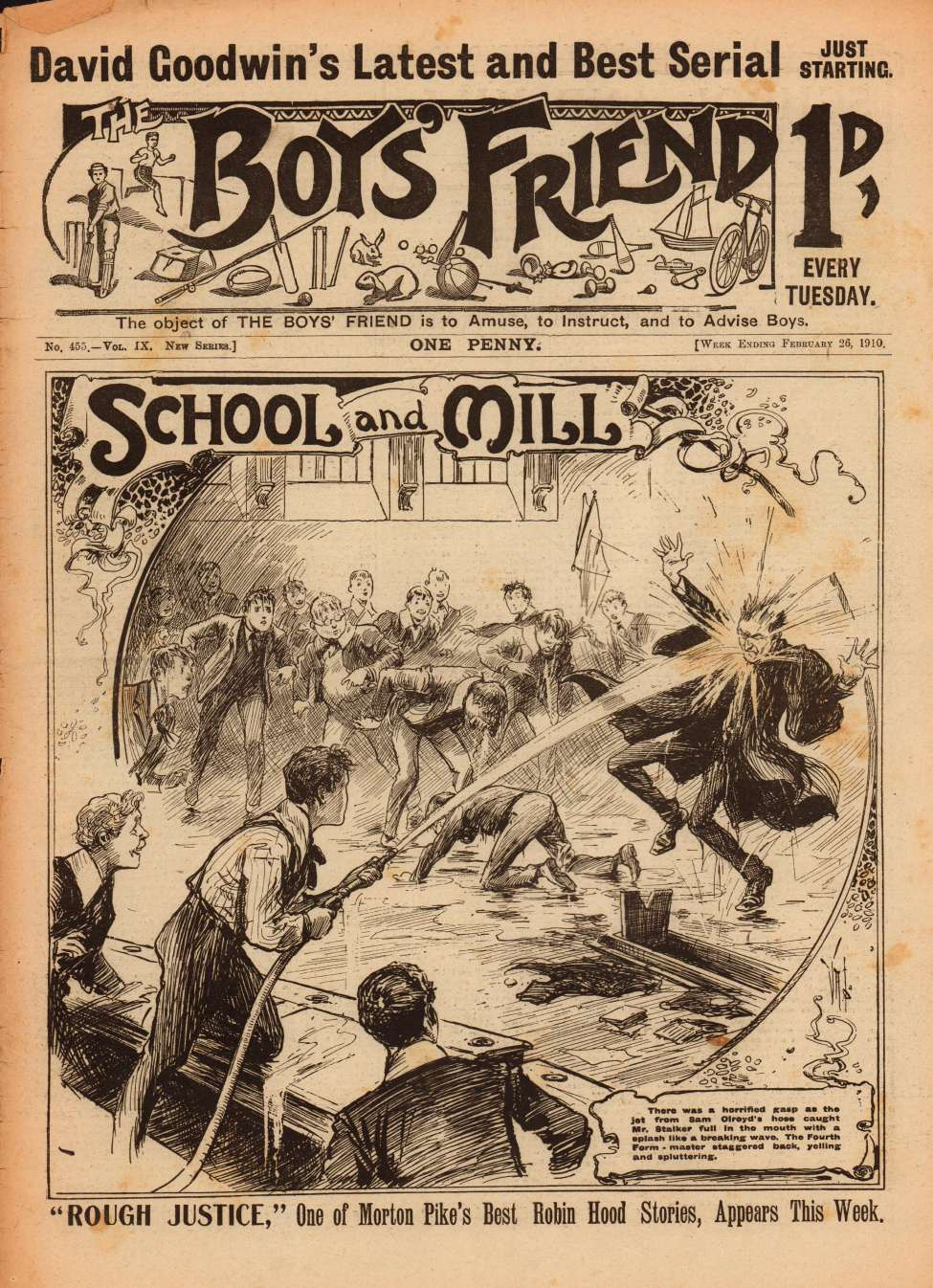 Comic Book Cover For The Boys' Friend 0455 - School and Mill