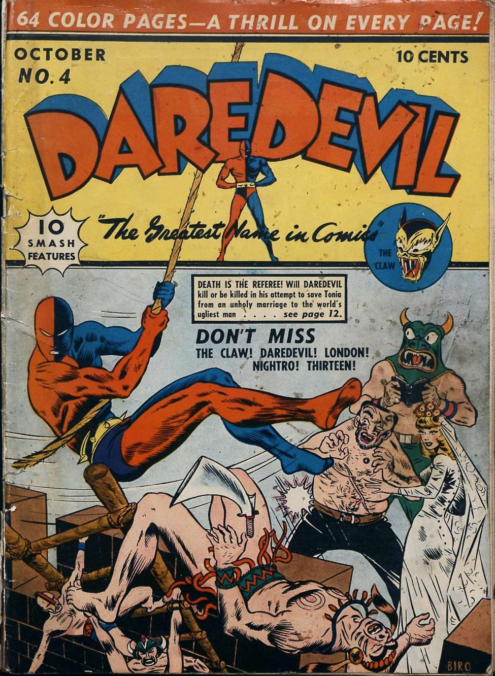 Comic Book Cover For Daredevil Comics #4 - Version 1