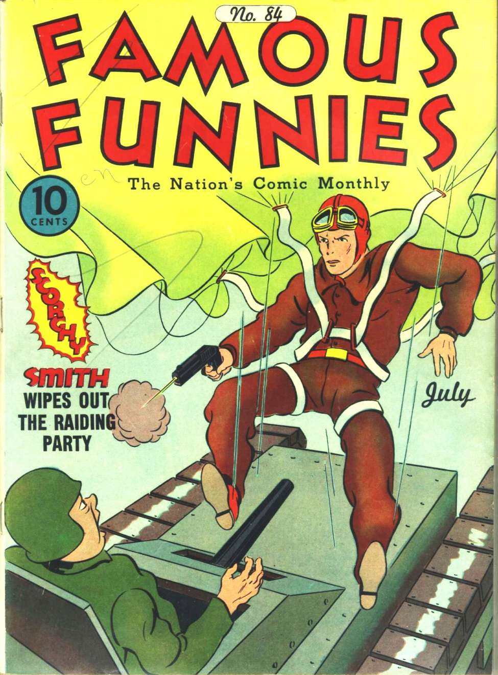Comic Book Cover For Famous Funnies #84