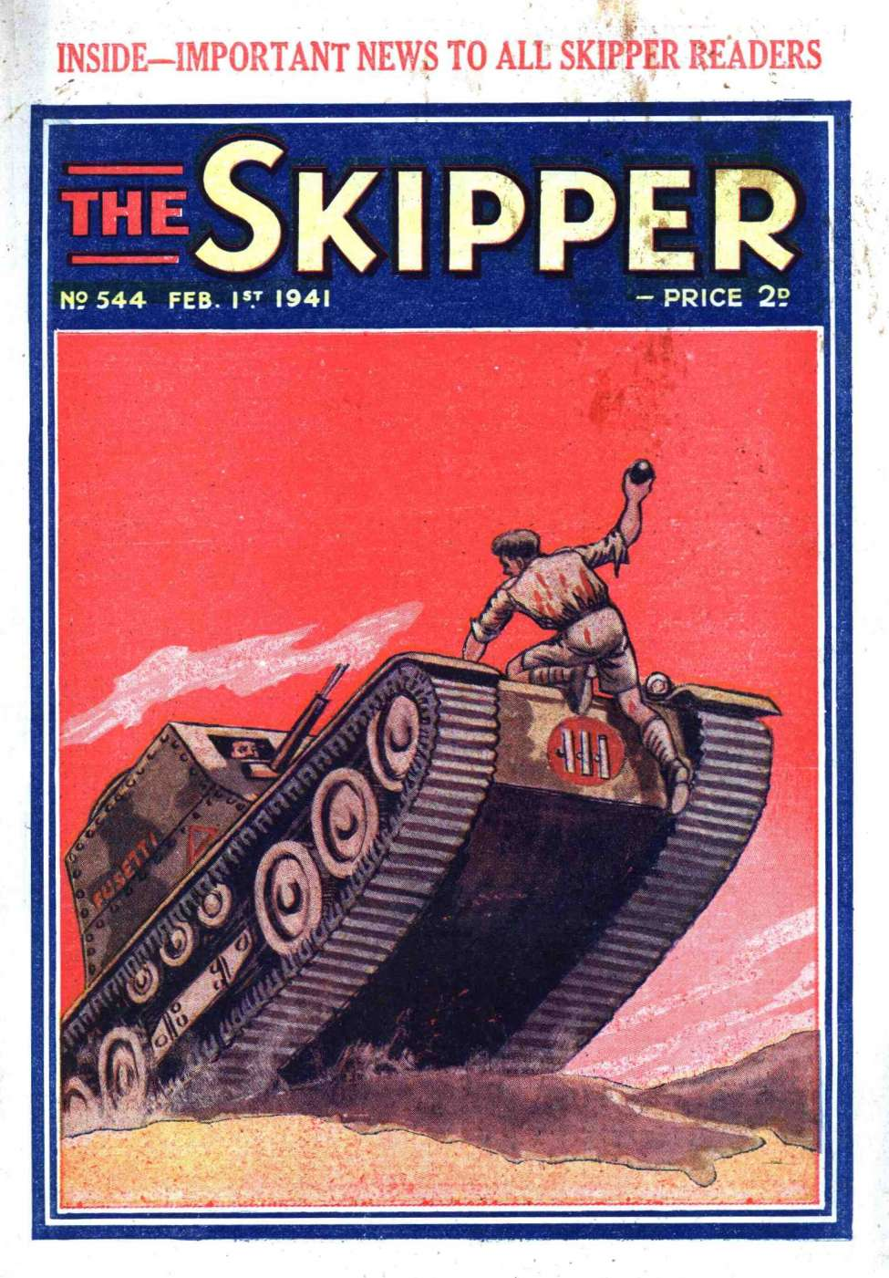 Comic Book Cover For The Skipper 544