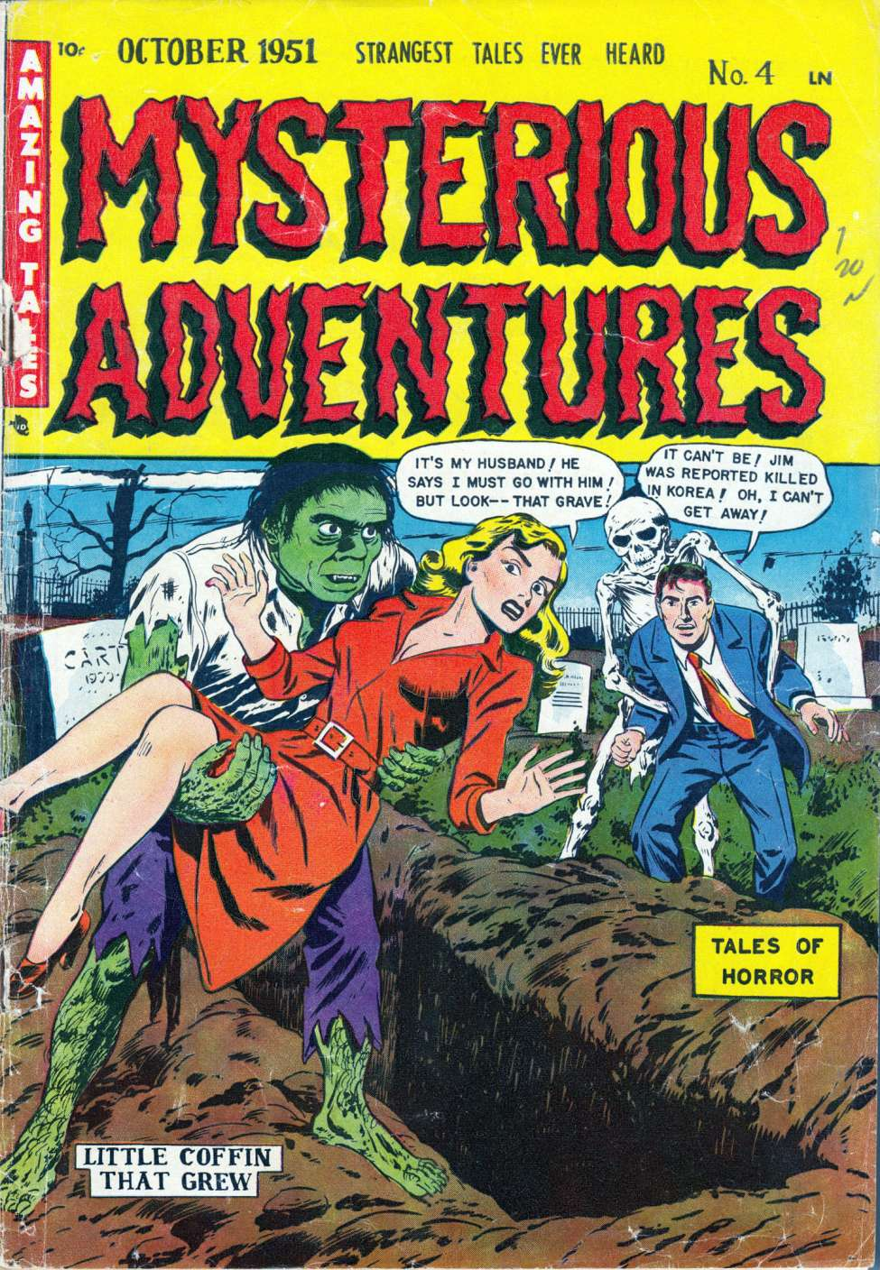 Comic Book Cover For Mysterious Adventures #4 - Version 2