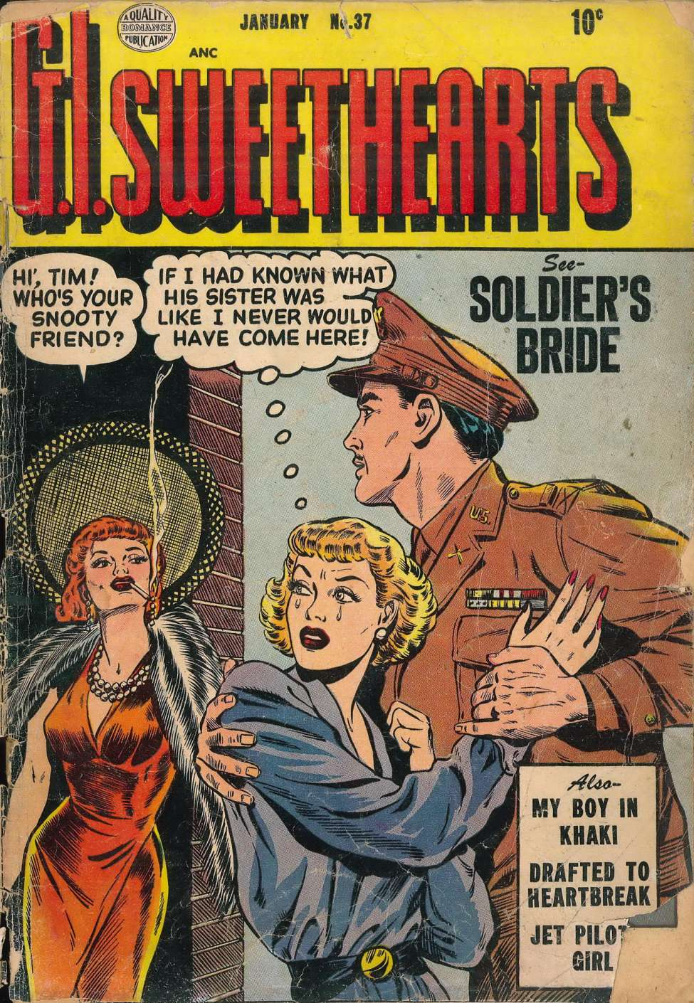 Comic Book Cover For G.I. Sweethearts #37