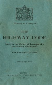 Large Thumbnail For The Highway Code 1935