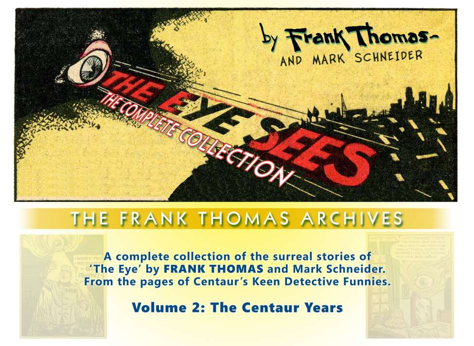 Comic Book Cover For Frank Thomas Archives v2 - The Complete Eye (Centaur)